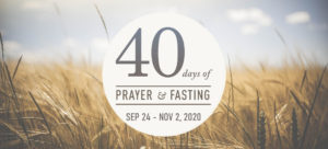 40 Days of Prayer and Fasting for our Nation